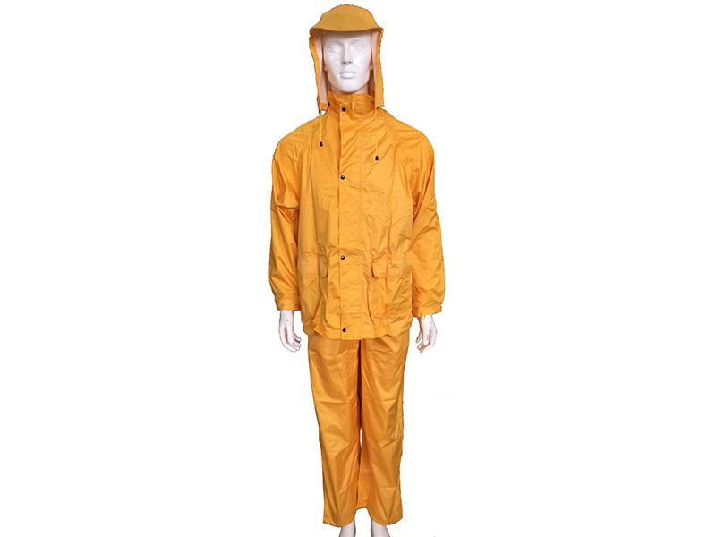 Áo mưa bộ màu vàng 1 lớp