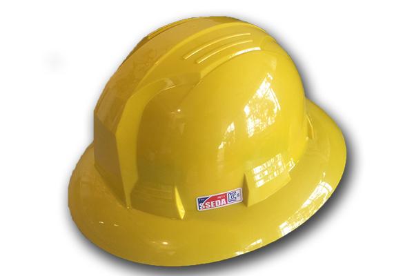 Mũ an toàn Hàn Quốc SSEDA vành rộng (Vàng chanh)