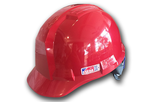 Mũ an toàn SSEDA IV Hàn Quốc có mặt phẳng màu đỏ