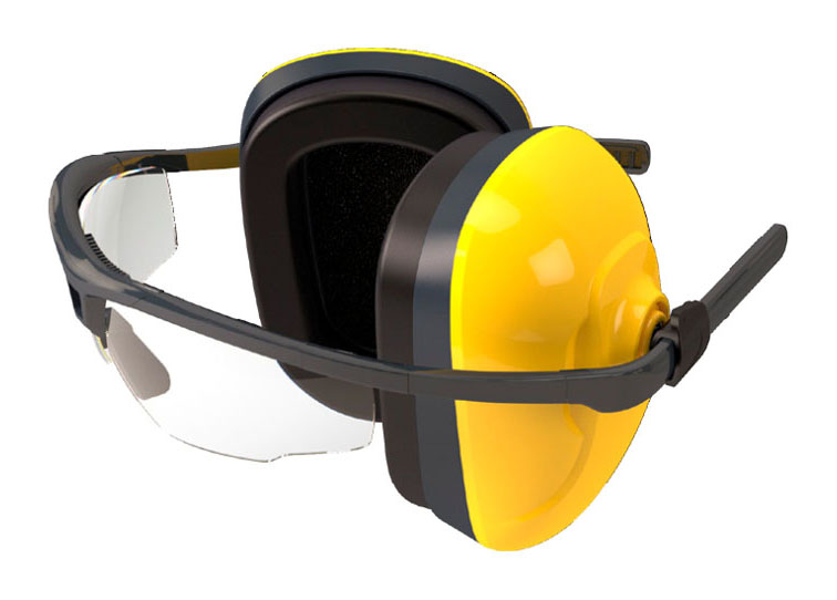 kính kết hợp bịt tai chống ôn