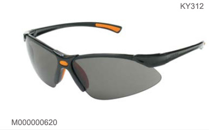 KY312 Kings black safety glasses