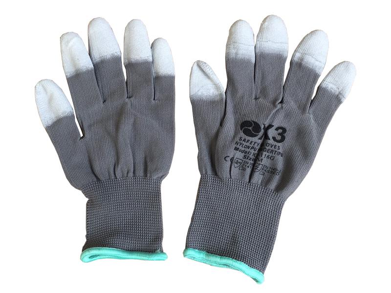 Găng tay chống tĩnh điện phủ ngón màu xám X3-116G
