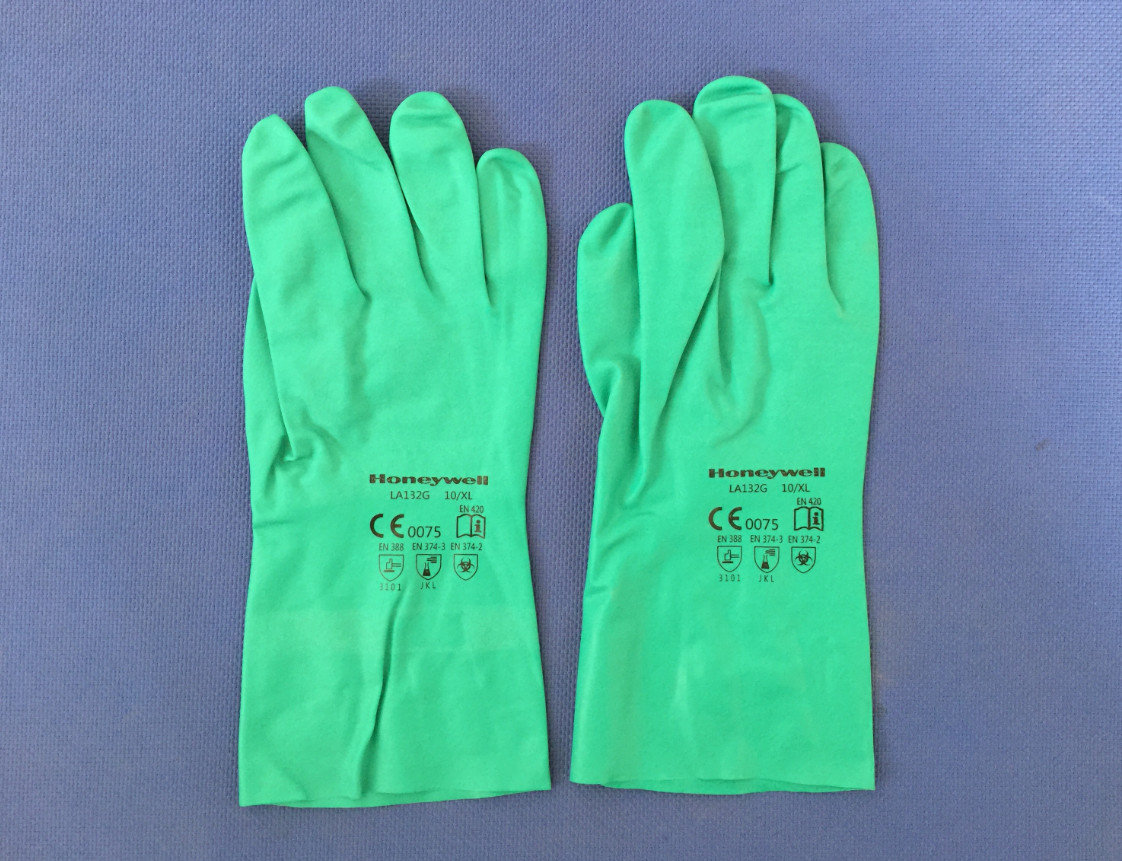 Nitrile rubber unlined gloves