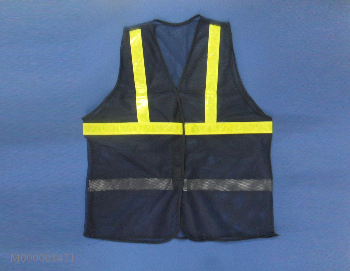 Áo lưới màu tím than phản quang vàng APQ-17