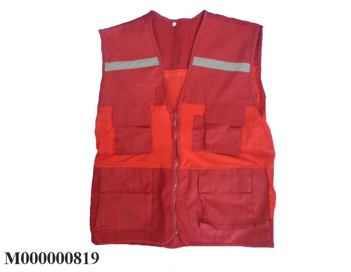 Áo lưới gile túi hộp màu đỏ